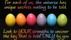 <b>Look to your strengths!</b>